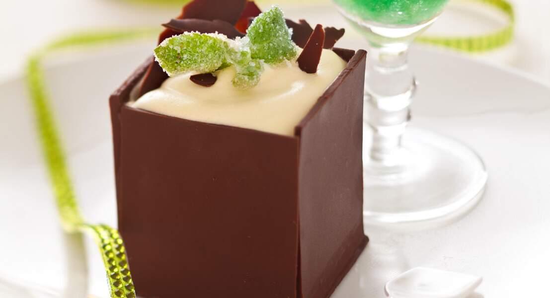 Boîte chocolat menthe