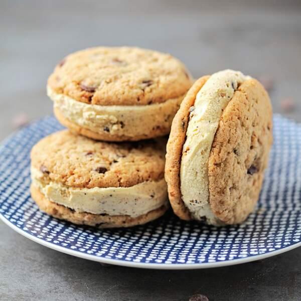 Pralin-cookie glacé