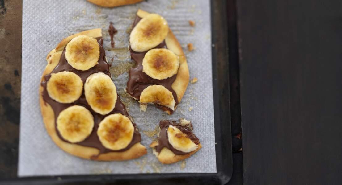 Pizza banane chocolat