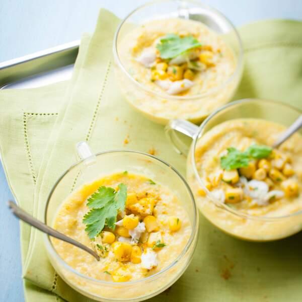 Soupe épaisse de maïs façon mexicaine