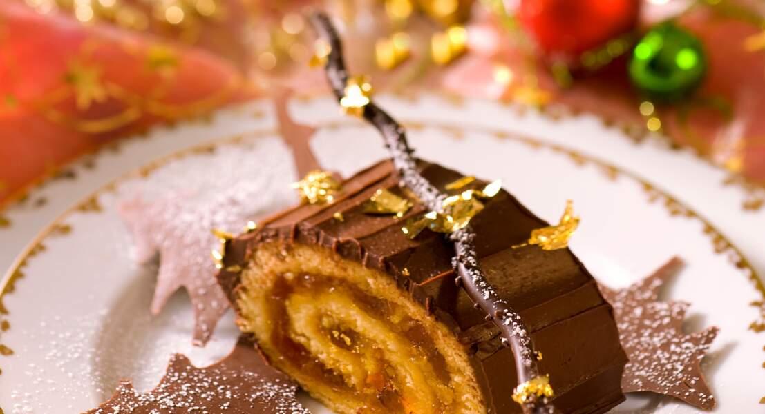 Bûche aux clémentines et au chocolat