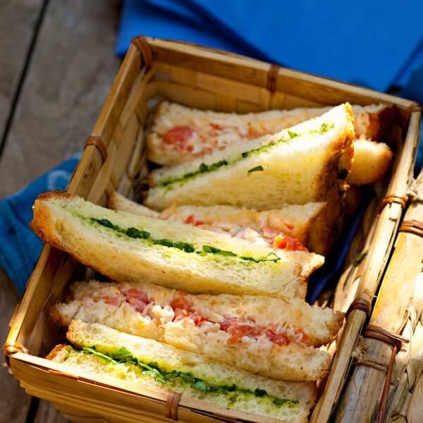Sandwich au crabe et au cresson