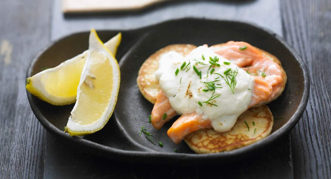 Raclette au saumon et à la ricotta