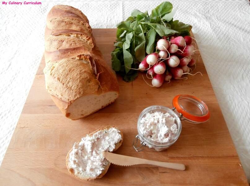 Rillettes de radis au fromage frais et ciboulette