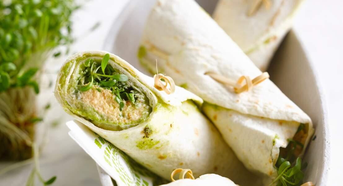 Wrap de tortilla mexicaine à la mousse de saumon