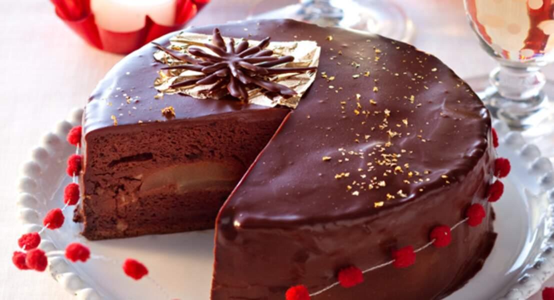 Fondant poire-chocolat