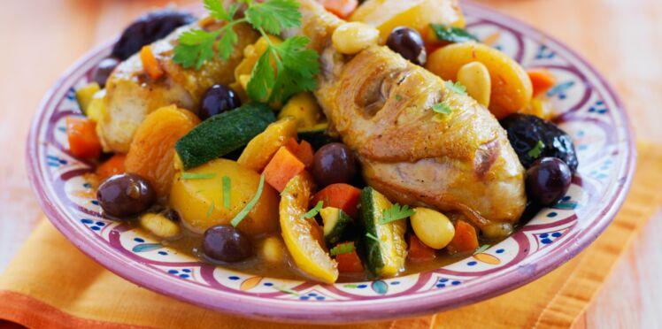 Tajine de poulet aux légumes et citron confit
