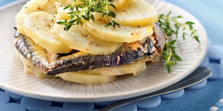 Pommes de terre à la sardine