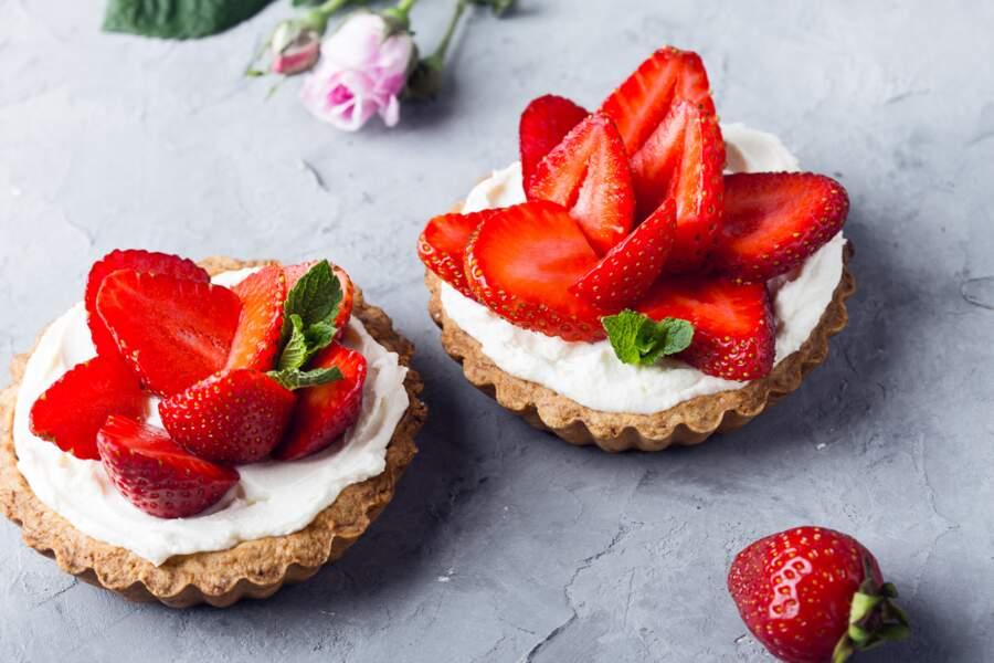 Cream cheese à la fraise