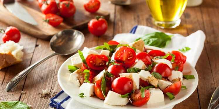 Tomates-mozzarella aux anchois