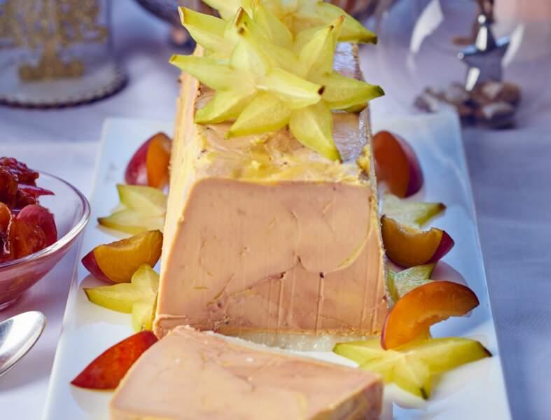 Foie gras de canard fumé, chutney aux quetsches