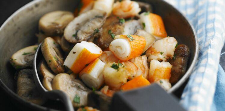 Fondue de légumes au surimi