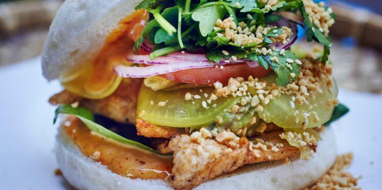 Chicken burger aux saveurs d'Asie