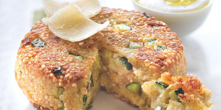 Galettes de quinoa aux courgettes et au parmesan