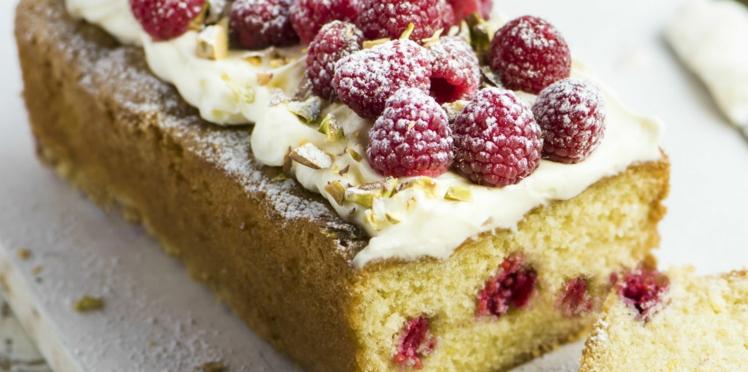 Gâteau framboise-pistache