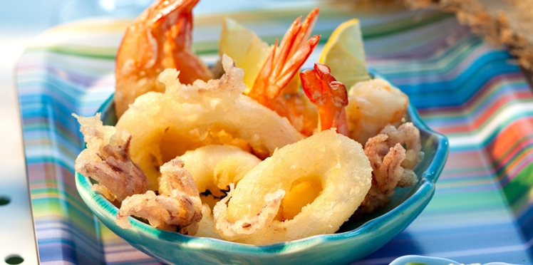 Fritto misto de crevettes et calamars