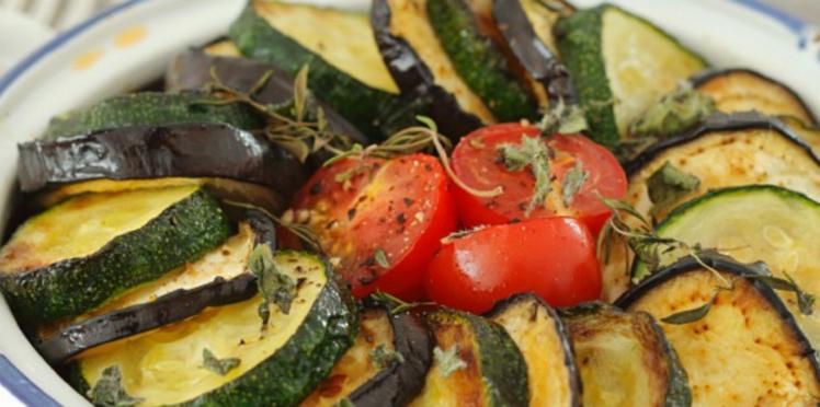 Gratin de courgettes et aubergines