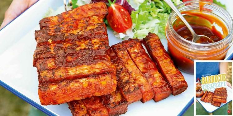 Tempeh façon ribs et sauce bbq au sirop d'érable