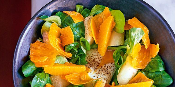Salade d'asperges blanches et œuf mollet