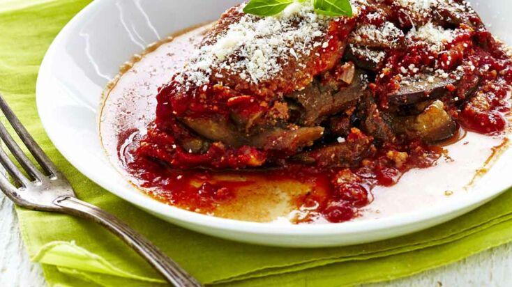 Les aubergines à la parmigiana en vidéo