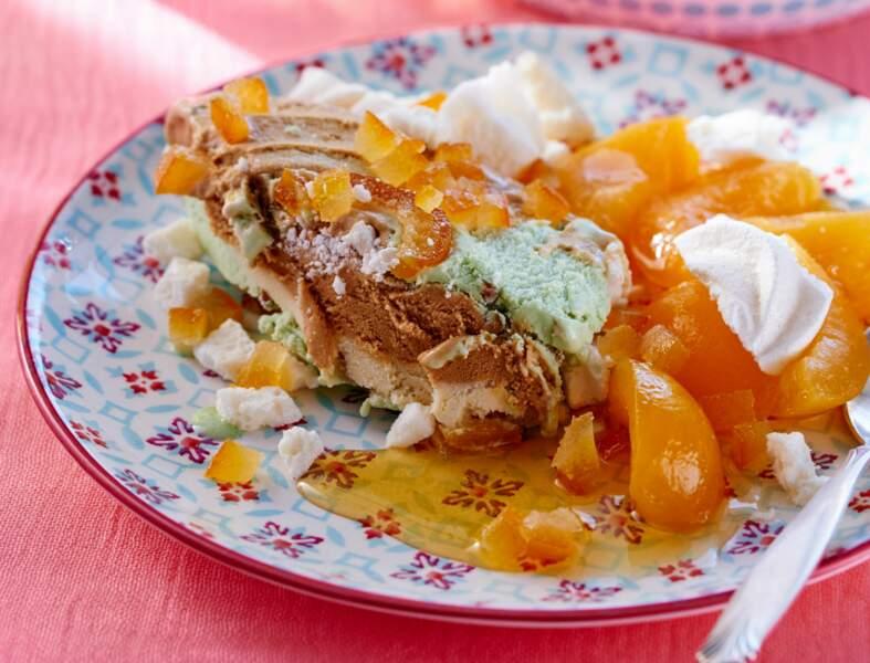 Trio de saveurs glacées en terrine & salade d'abricots