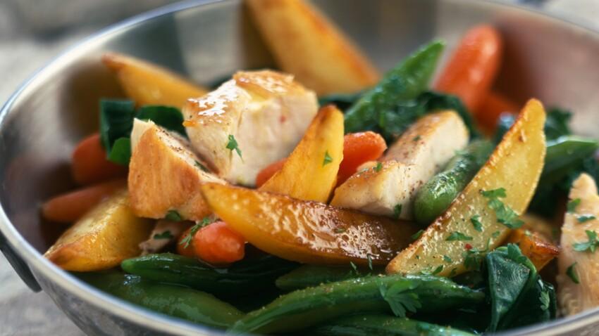 Wok De Legumes Au Poulet Decouvrez Les Recettes De Cuisine De