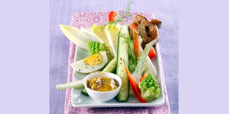 Fondue de légumes à la crème d'anchois