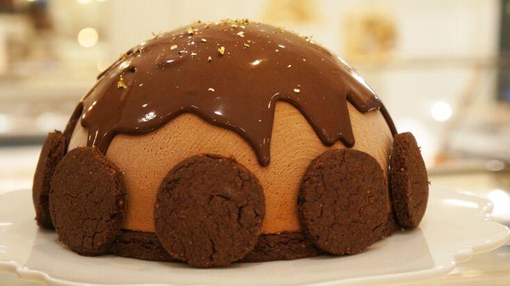 La recette du gâteau de Noël au chocolat par Sébastien Gaudard
