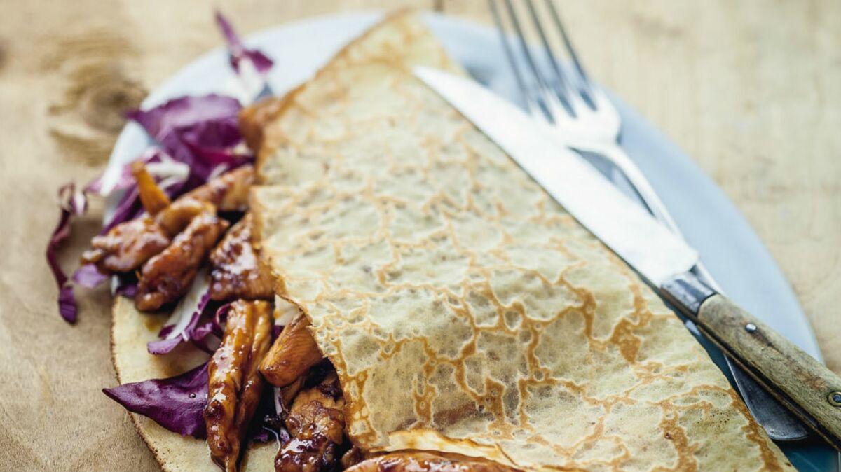Kebab de poulet laqué au sirop d'érable et sauce soja