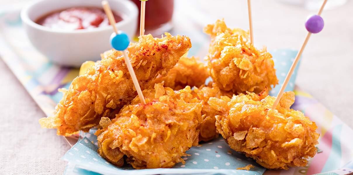 Nuggets de poulet et ketchup maison