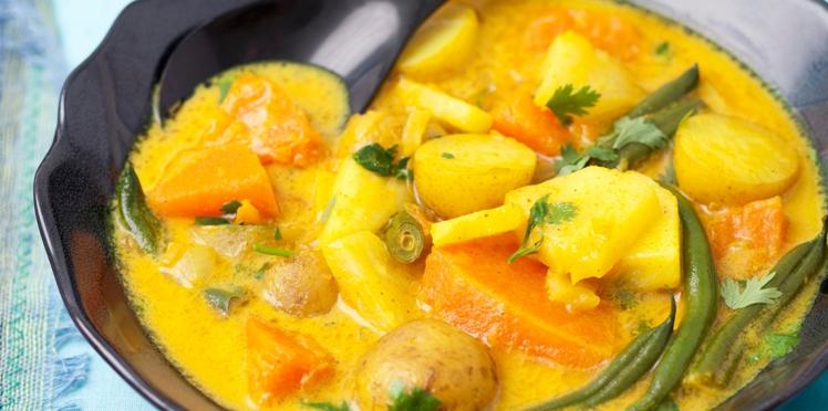 Curry indien de légumes au citron vert