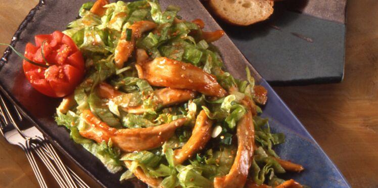 Salade de poulet mariné Teriyaki