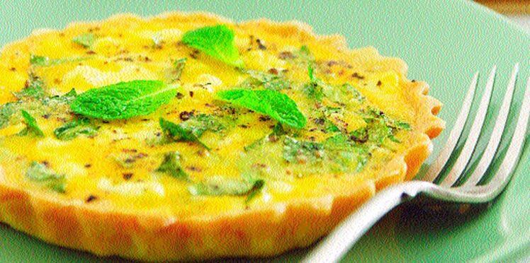 Tartelettes à la menthe et au fromage de chèvre