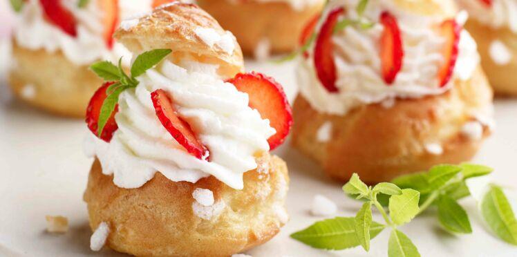 Chouquettes surprise fraises et verveine