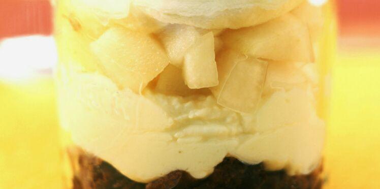 Tiramisu au chocolat et à la compote de poire
