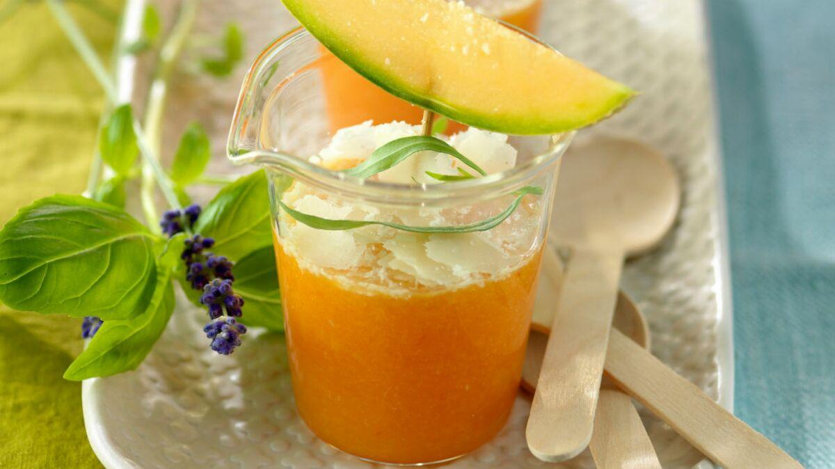 Gaspacho de melon au basilic