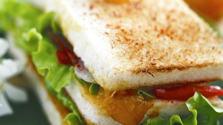 Club sandwich magret et mirabelles