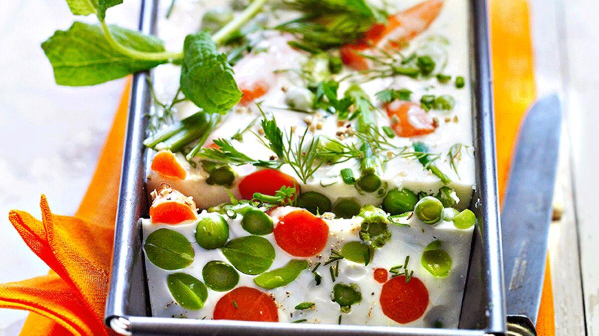 Terrine végétarienne de légumes primeur