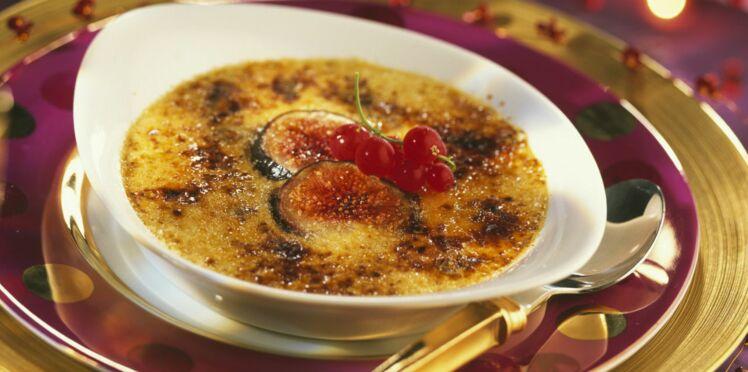 Minis ramequins de crèmes brûlées au foie gras et aux figues