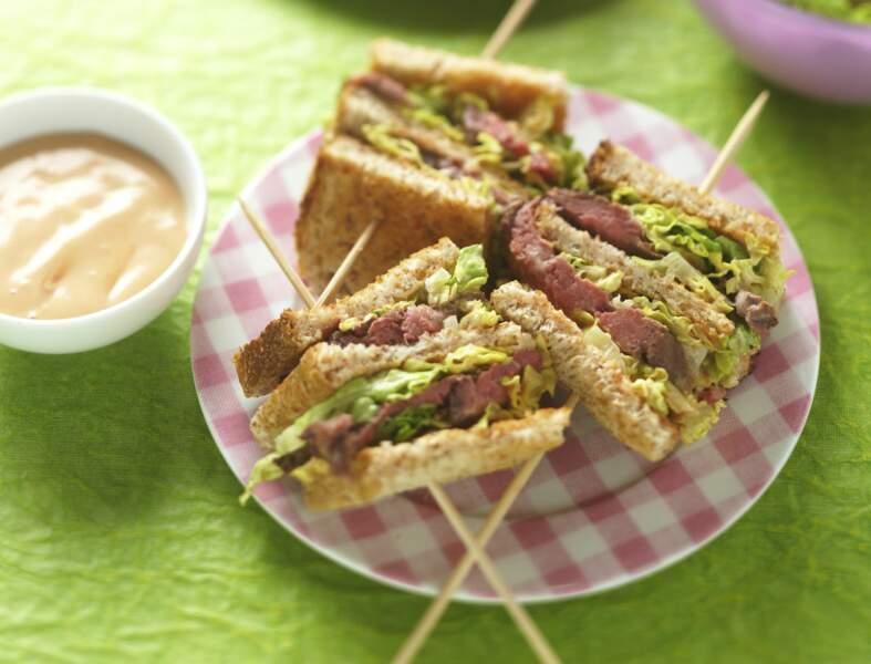 Club sandwich au bœuf