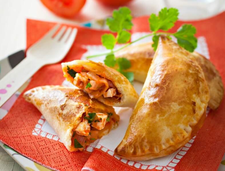 Empanadas au poireau, tomate et feta