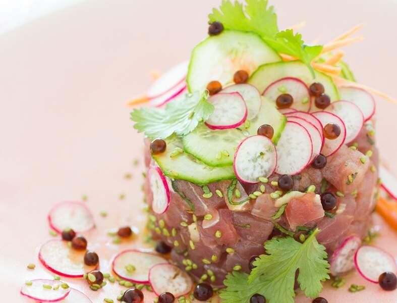 Tartare de thon au sésame et wasabi