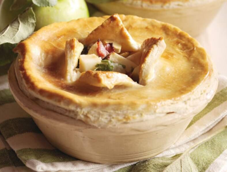 Tourtes aux pommes et au lard