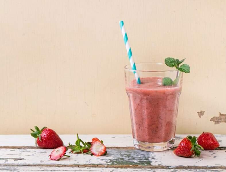 Smoothie à la fraise et aux graines de chia