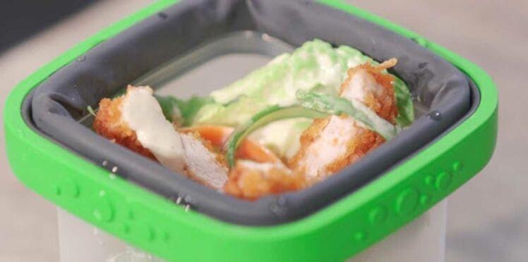 Salade César et son poulet croustillant de Grégory Cuilleron