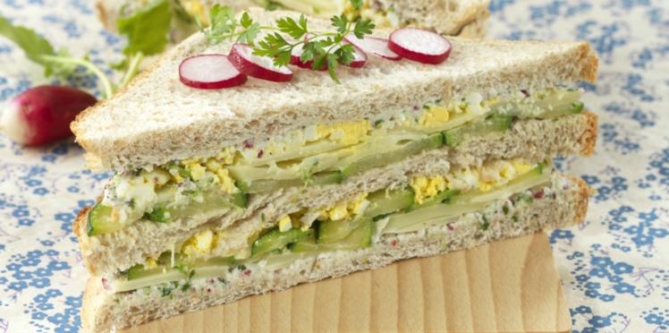 Club sandwich œuf, courgette, emmental