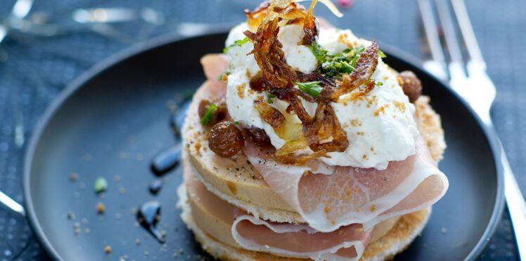 Foie gras au jambon et chantilly aux spéculoos