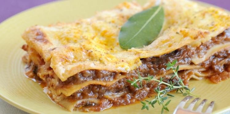 Lasagnes à la riste d'aubergine
