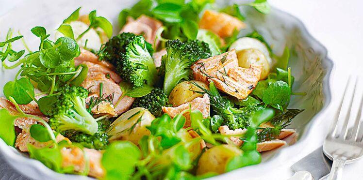 Salade de cresson au saumon