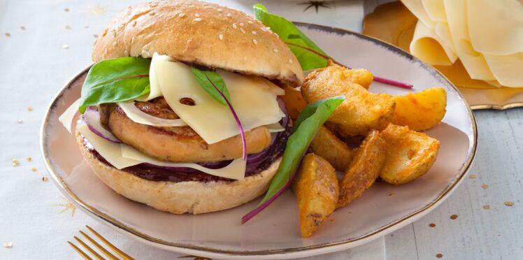 Burger au foie gras poêlé à l'emmentaler AOP suisse